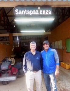 Jon Kiger with TurfNet Member Rick Holanda at Santapazienza Golf Club outside of Sao Paulo, Brazil