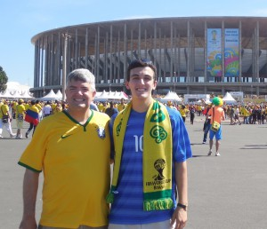 Jon and David Kiger on location at the 2014 FIFA World Cup in Brazil
