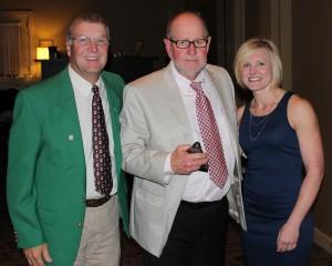 Ronnie Hall (center), is pictured with Den Gardner and Nicole Wisniewski