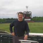 Eric Schroder at Ripken Experience facility in Aberdeen, MD, inside the stadium for the Iron Birds minor league team